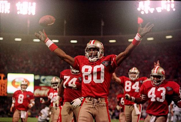 Jerry-Rice-touchdown-from-Steve-Young-49ers