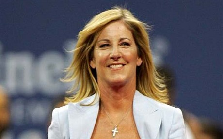 2006 US Open Tennis...NEW YORK - AUGUST 28: Chris Evert walks on stage during the opening ceremony on the first day of the US Open at the USTA Billie Jean King National Tennis Center in Flushing Meadows Corona Park on August 28, 2006 in the Flushing neighborhood of the Queens borough of New York. (Photo by Al Bello/Getty Images)
